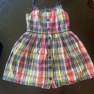 Girls Madras plaid dress